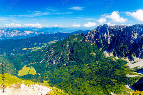 Beautiful alps landscape. Beautiful majestic mountain peaks.