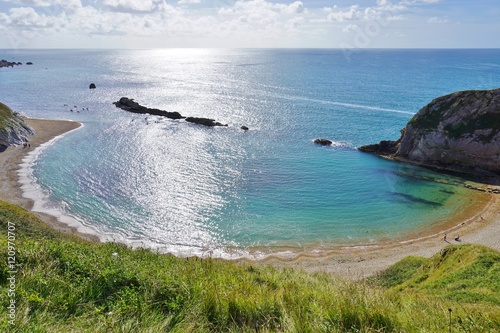 Canvas Print Lulworth Cove on the English Jurassic Coast in Dorset, England
