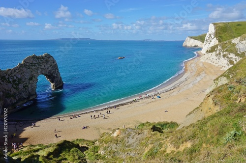 The English Jurassic Coast in Durdle Door, Lulworth, Dorset Poster