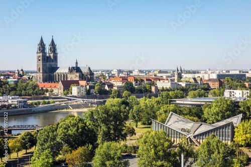 Recess Fitting Blue sky Magdeburg - Aussicht