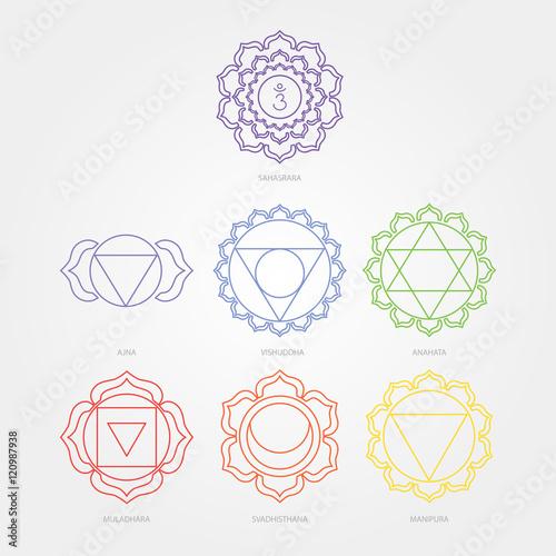 Fototapeta The seven chakras obraz na płótnie