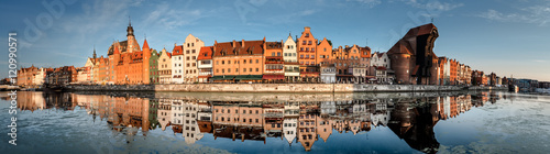 Recess Fitting Panorama Photos Cityscape of Gdansk with reflection