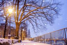 Terrassenufer Dresden In Winter