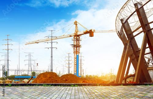 Foto op Plexiglas Stadion Stadium construction site