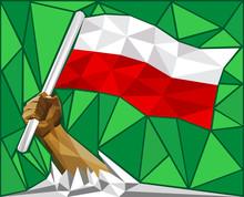 Strong Hand Raising The Polish...