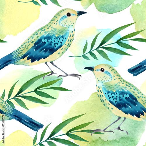 akwarela-bezszwowe-wzor-z-ptakami