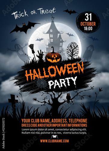 Halloween party Tableau sur Toile