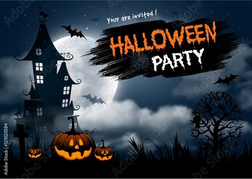 Spoed Fotobehang Halloween Halloween party