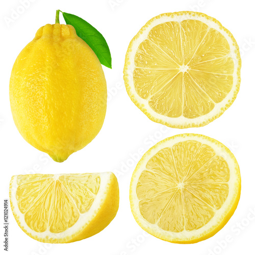 Stampe  Isolated lemon fruits collection
