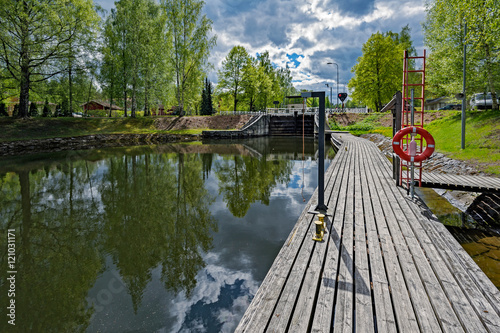 Photo sur Toile Canal Vaaksy Canal shipping lock