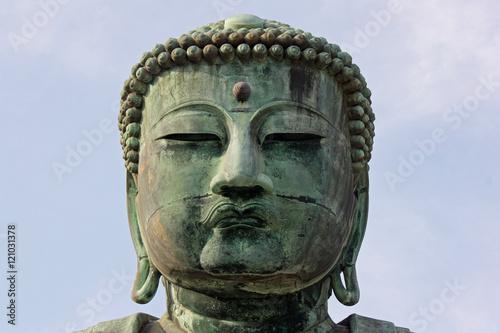 Tête du Grand Bouddha à Kamakura, Japon Fototapeta