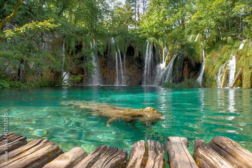 Fototapeten Wasserfalle Croatia Plitvice Lakes