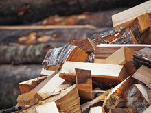 Pile Of Firewood Logs Background