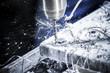 canvas print picture - Standbohrmaschine im Betrieb, Detail