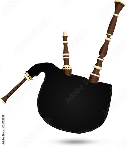 Fotografía Biniou koz - traditional French bagpipe