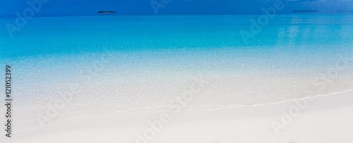 Obraz na plátně Maldives,  tropical sea background 3!