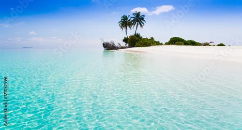 Stampa su Tela Maldives,  tropical sea background 3!