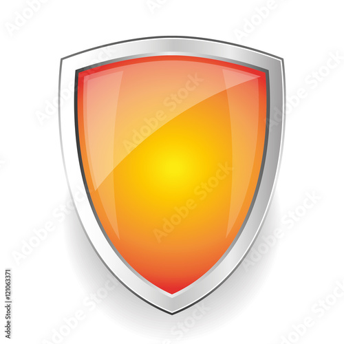 Fototapeta Empty Steel shield vector