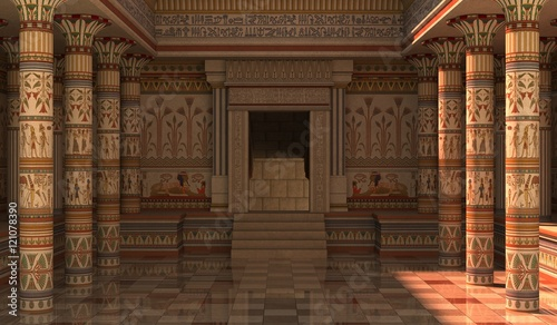 Deurstickers Bedehuis Pharaohs Palace 3D Illustration