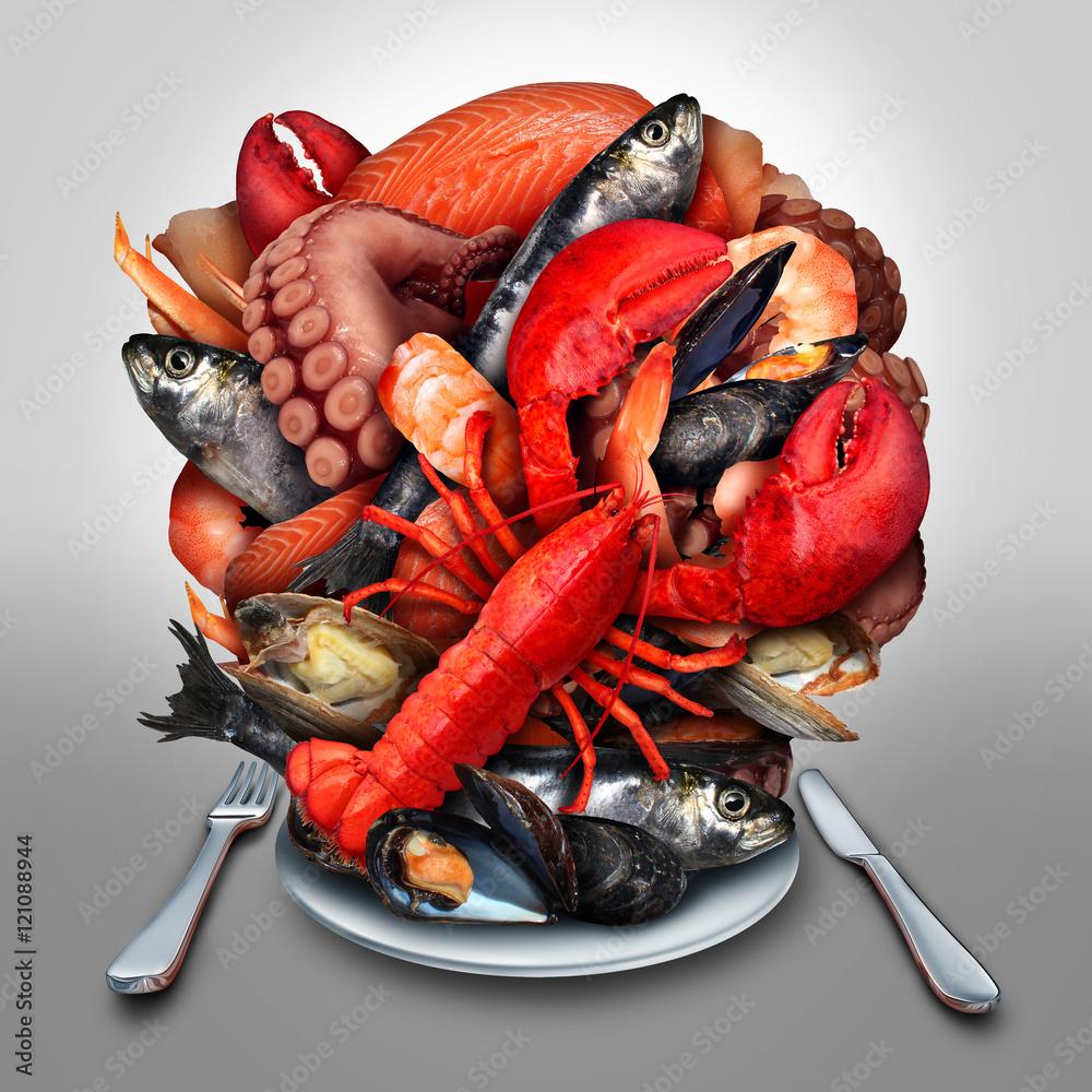 Photo  Seafood Plate