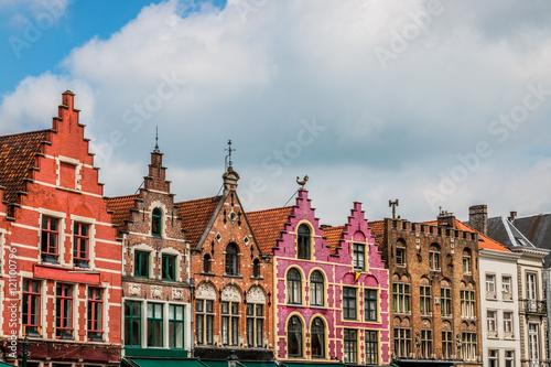 Poster Brugge Immeubles de Grand-place de Bruges la Venise du Nord