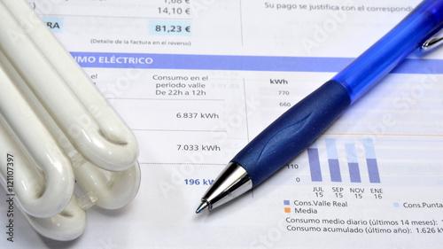 Fotografía  Factura eléctrica