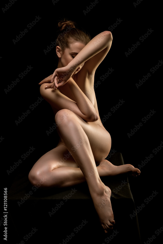Photo Art Print Perfect Flexible Sexy Body Of Young Woman Art Nude Europosters