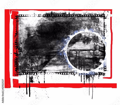Fototapety, obrazy: Grunge abstract background with dripping