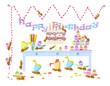 ants celebrate birthday,vector, background