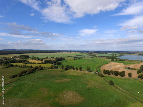 Foto op Aluminium Oceanië aerial view of agricultural fields and lakes in germany