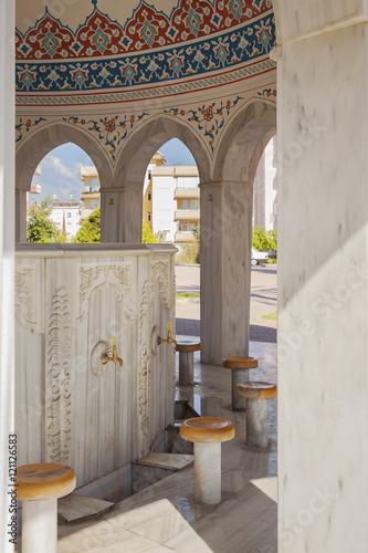 Valokuva  Manavgat mosque ablution taps