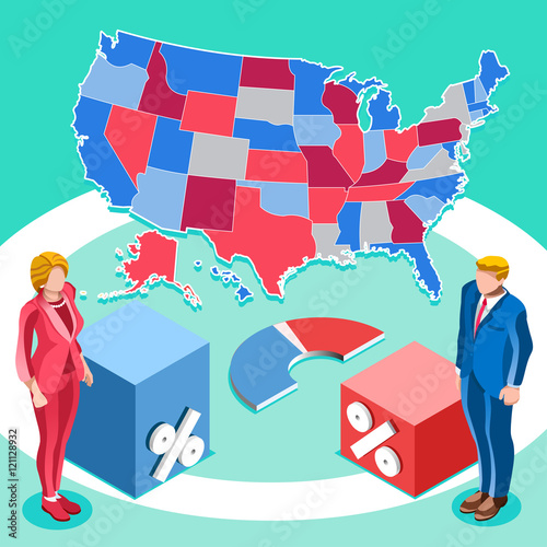 Presidential Debate Usa Election 2016 Winner News Republican - Us-map-vote-2016
