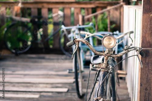 Deurstickers Fiets Old retro bike.