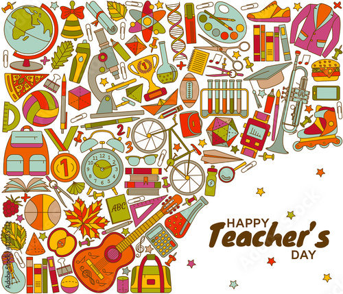 Happy teachers day background greeting card vector illustration happy teachers day background greeting card vector illustration m4hsunfo