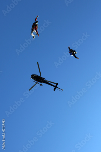 Tuinposter Luchtsport Skydiving