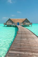 Fantastic lagoon in a Maldivian island