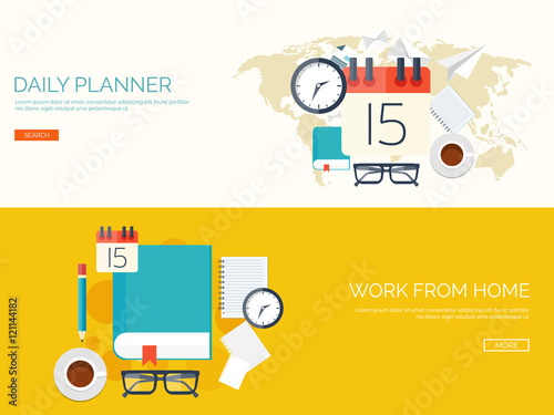 vector illustration flat background with calendar time date 31 december