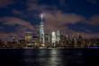 New York City evening downtown buildings skyline