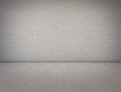 wall decoration pattern in empty white room - 3d rendering