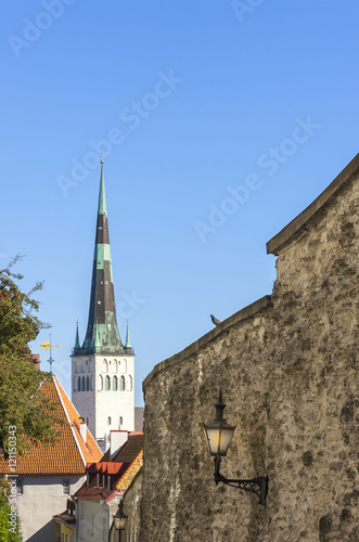 St Olaf church in Tallinn, Estonia Poster