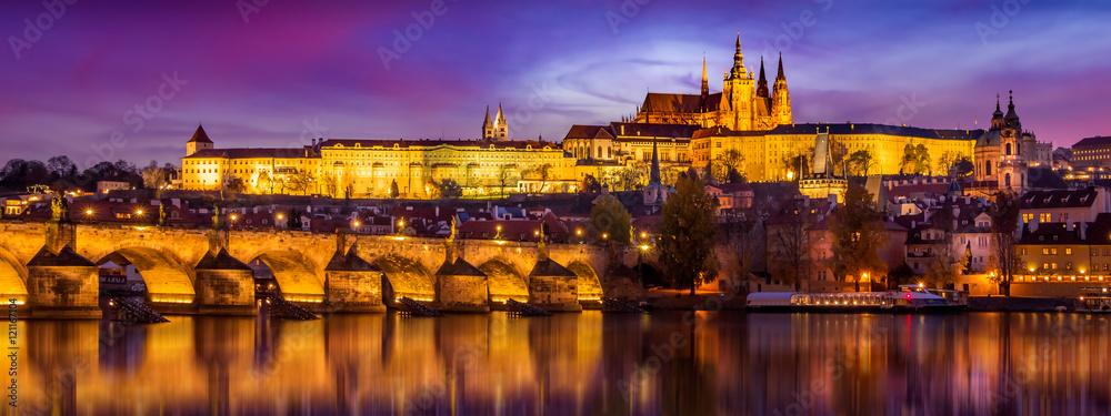 Fototapeta Prague in sunset