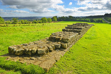 Hadrians Wall Near A Place Called Black Carts - Northumberland National Park, United Kingdom. Hadrians Wall Is A World Heritage Site By UNESCO