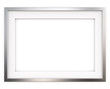 canvas print picture - Picture Frame. 3D render of Classic Metal Frame with white Passe-partout. Blank for Copy Space.