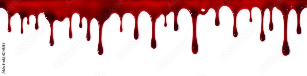 Fototapeta Dripping blood banner