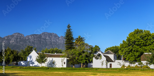Foto op Canvas Zuid Afrika Republic of South Africa. Stellenbosch - typical Cape Dutch architecture style