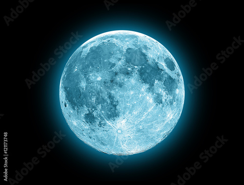 Blue Moon isolated on a black