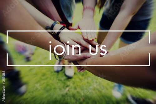 Fotografía Join Us Apply Hiring Membership Recruit Team Concept