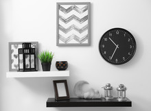 Shelves With Home Decor In Mod...
