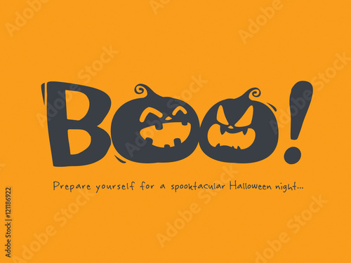 Fotografia, Obraz Halloween message Boo!