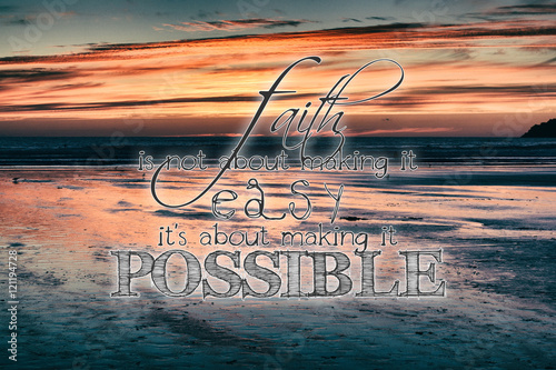 Photo sur Aluminium Message inspiré Inspirational quote on a retro style background